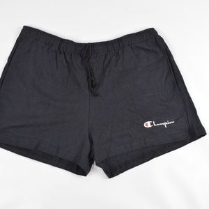 Vintage CHAMPION New Mens Spell Out Shorts Black
